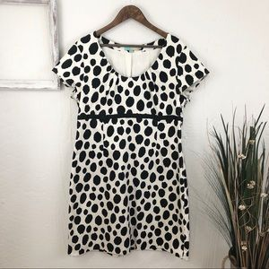 Boden Polka Dot Cap Sleeve Dress